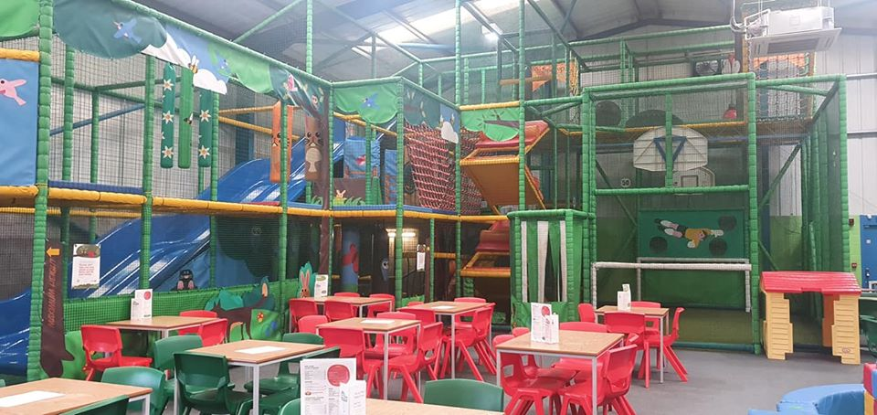 Play frame at Treetops soft play in Golborne