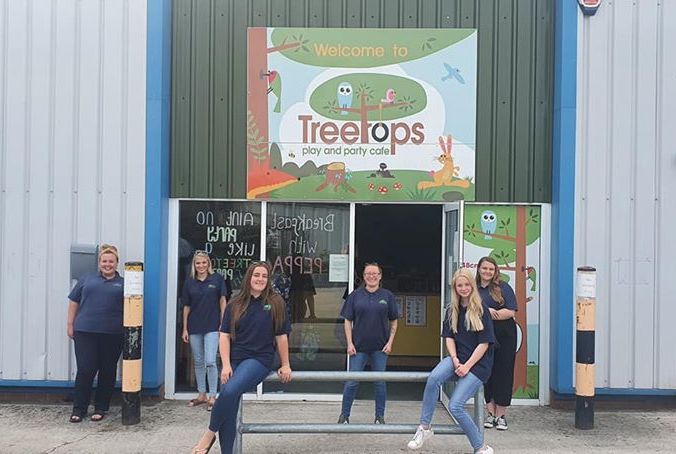 Staff from Treetops soft play in Golborne