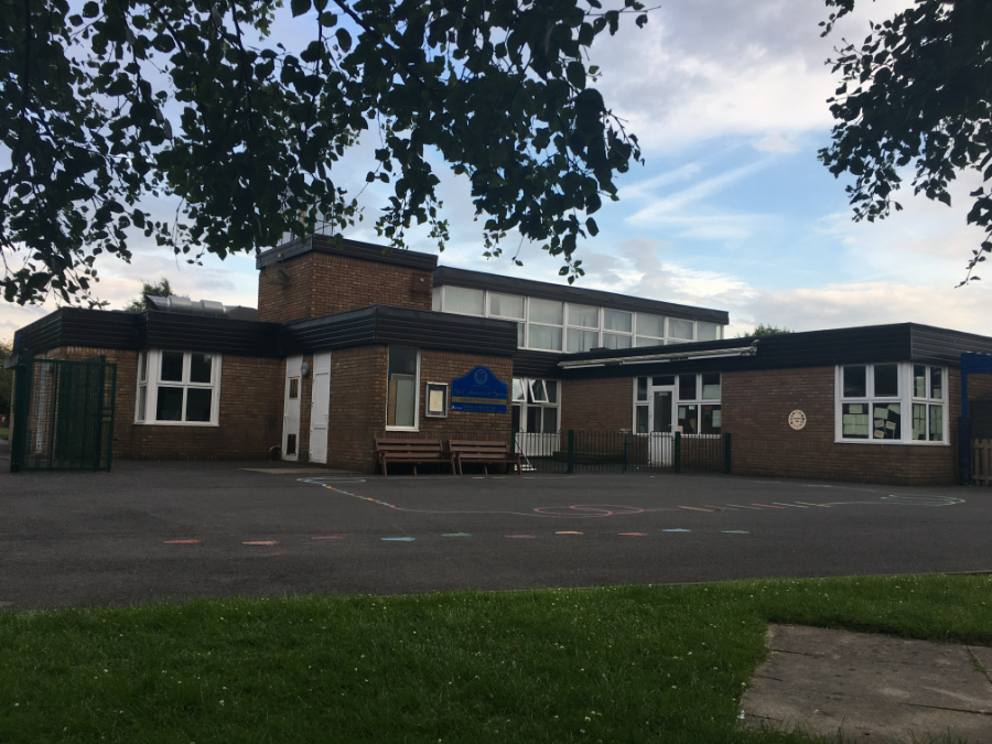 The outside of St Catherine of Siena RC Primary in Lowton