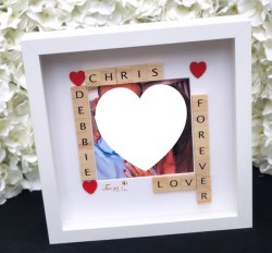 Personalised photoframe made by Tanya's Treasures
