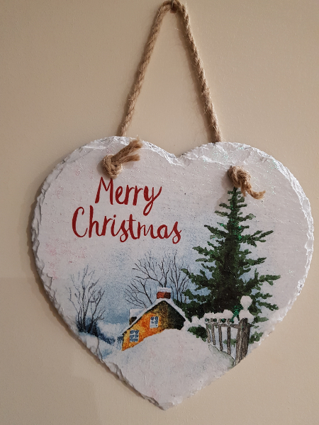 Amber House Crafts christmas plaque