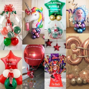 Festive balloons from the party and balloon shop