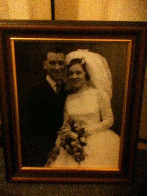 James and Rosita Lawlor on their wedding day, 60 years ago