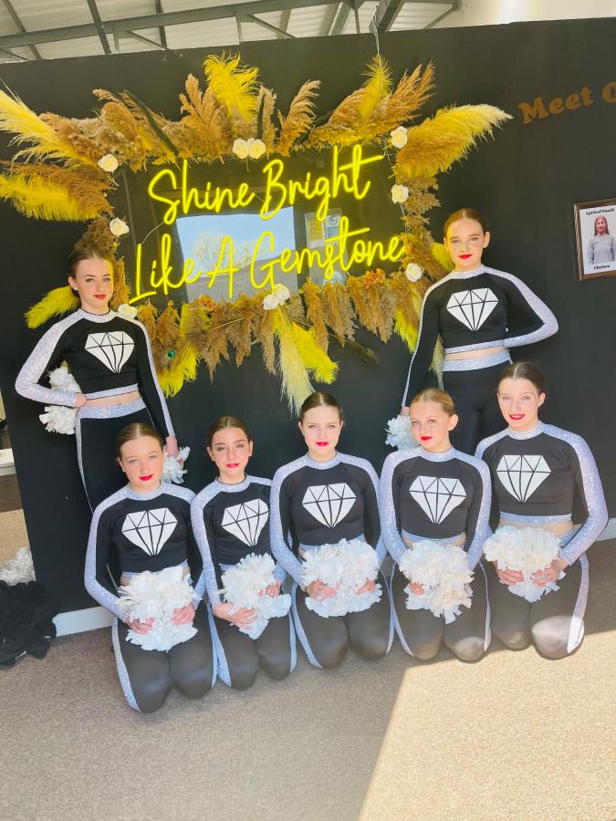Gemstone Cheer dancers