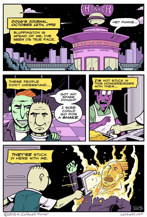 Doug's Journal in Honkerburger Comic by H Caldwell Tanner