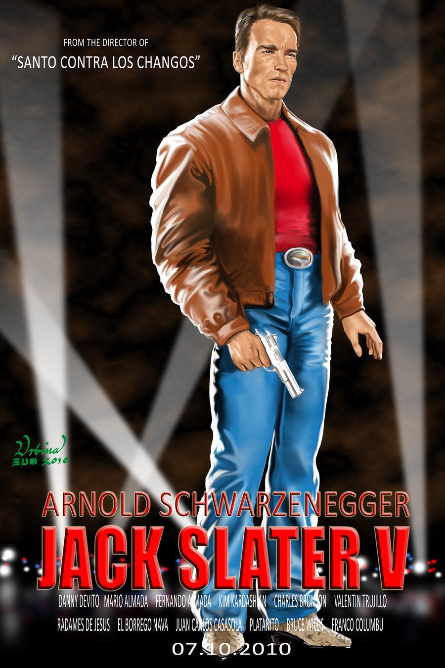 Arnold Schwarzenegger Starring In Jack Slater V, Movie Poster By ...    Valentin
