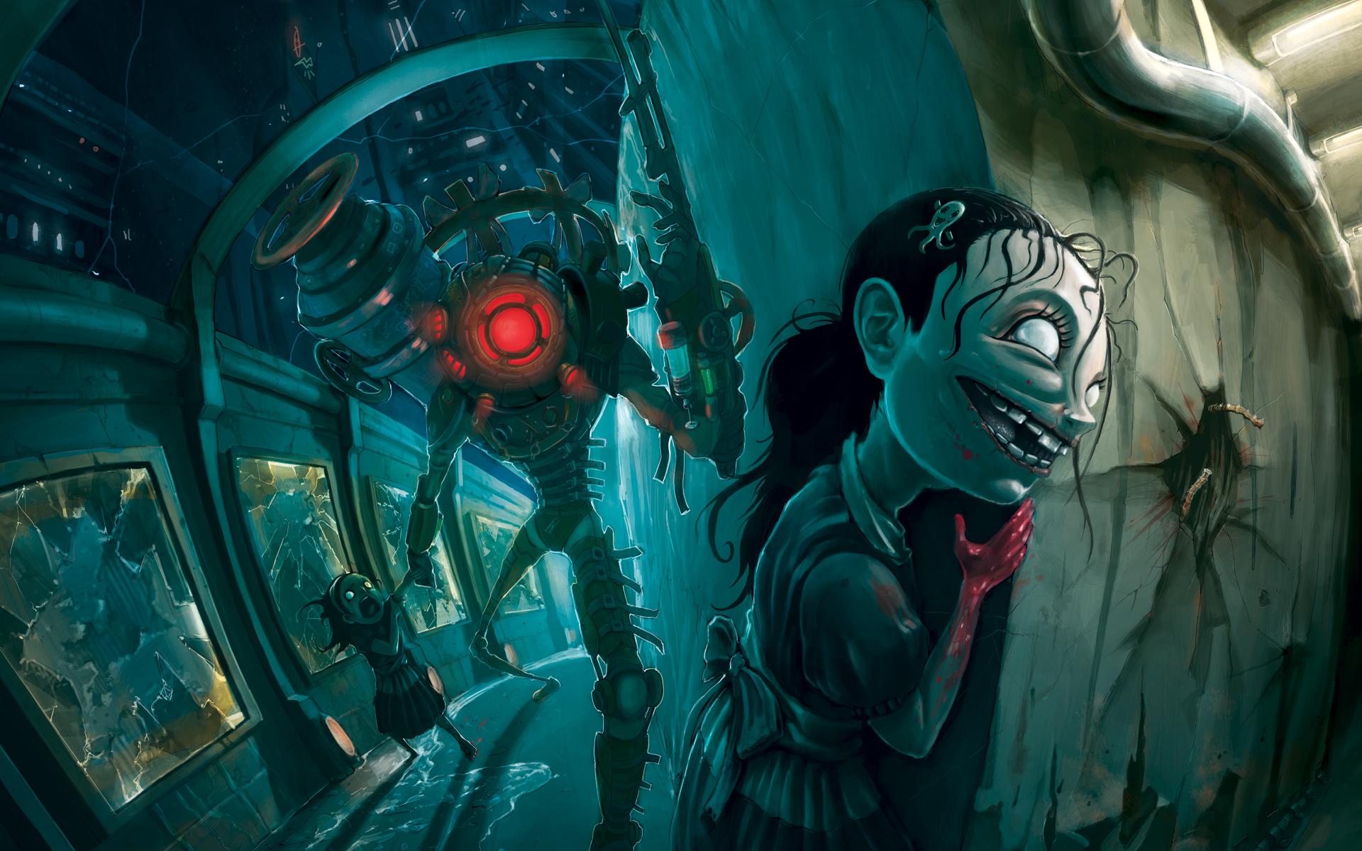 Bioshock 2 Sisters Big Sister Wallpaper By Jhonen Vasquez Creator