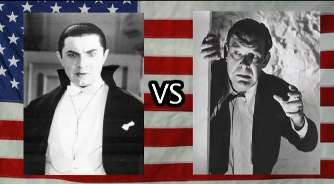 Cinemassacre's Titans of Terror – Lon Chaney Jr (Wolf Man) vs Bela
