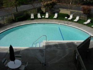 Marriott Courtyard Pool, Santa Rosa, California