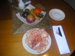 Noosa Prawns $1USD each 2003