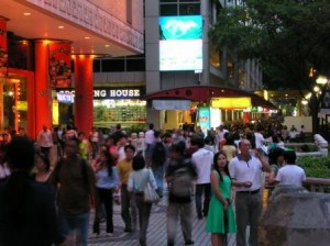 Singapore Orchard Road Shopping and Hotel District