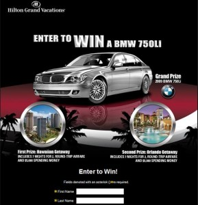 Hilton Grand Vacations Grand Giveaway