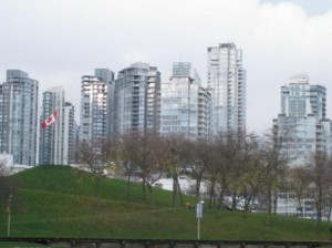 Vancouver Apartment Building Glass Towers