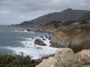 Big Sur coast in winter