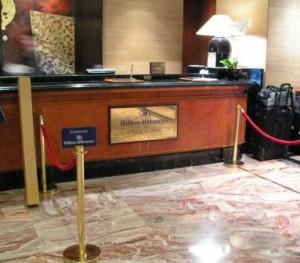 Hilton HHonors Check-in Desk, Hilton Singapore