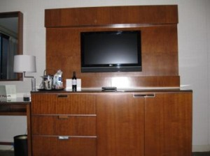 Westin Bayshore Vancouver TV in sitting room suite