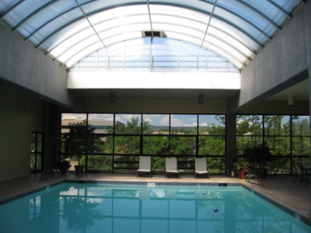 Sheraton Denver West indoor pool with skylight