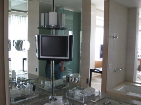 St. Regis San Francisco hotel bathroom TV