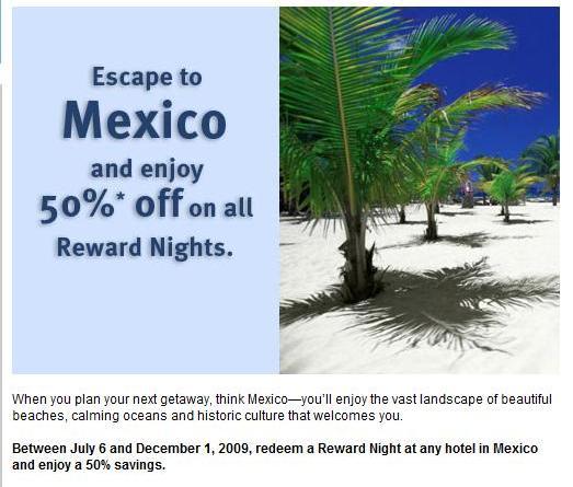 Priority Club 50% Off Mexico Reward Nights