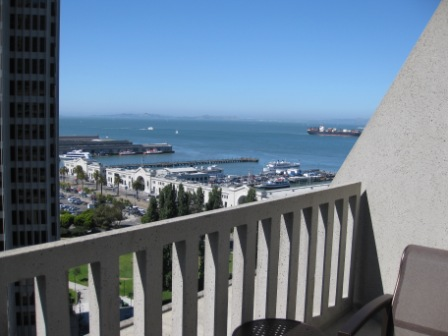 View of San Francisco Bay from Hyatt Regency King Balcony room