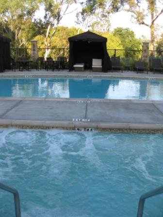 Westin Napa Verasa spa, pool, and cabana