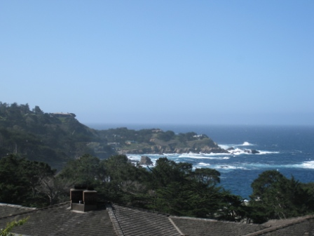 View from California Market restaurant patio, Hyatt Highlands Inn, Carmel, CA