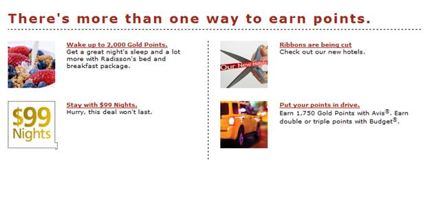Goldpoints Plus Ways to Earn - No link showing how to earn points from hotel stays