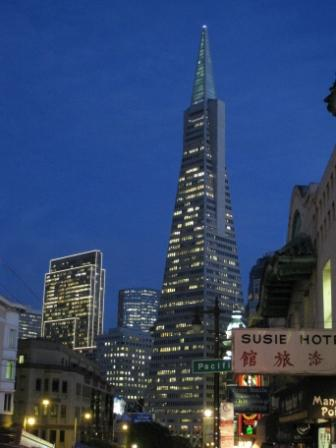 View of San Francisco Financial District from North Beach