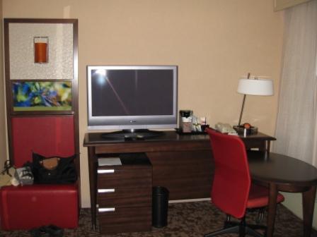 Bedroom amenities Suite 1938, Sheraton Denver Downtown