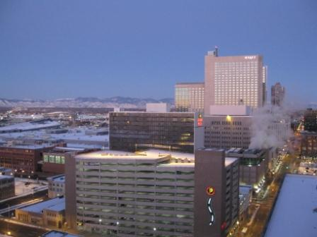 Hyatt Regency Convention Center and Crowne Plaza seen from Sheraton Denver Downtown