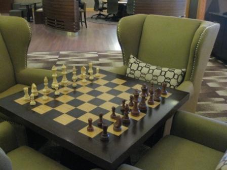 Chess table, Sheraton Denver Downtown