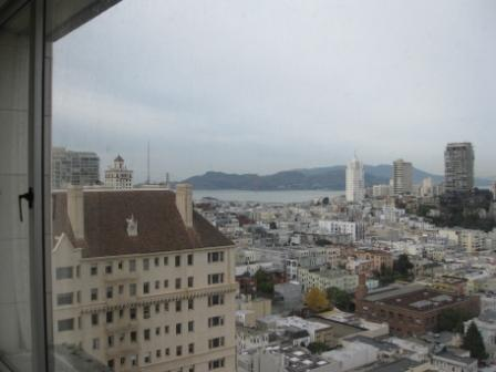 View of Golden Gate Bridge from San Francisco Fairmont Sutro Suite
