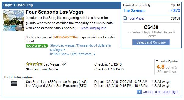 Betting on Expedia.ca for a Vegas Suite Deal - Loyalty Traveler