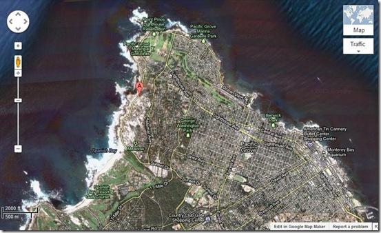Google Maps Spanish Bay