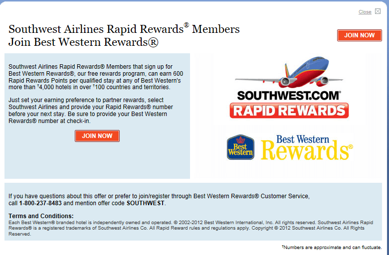 Book your hotel with Southwest Airlines and stay at Best Western Hotels, Hyatt Hotels and the Marriott! Earn points that go towards your stay using Rapid Rewards.