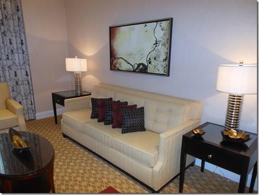 JW Marriott LaSalle Suite living room