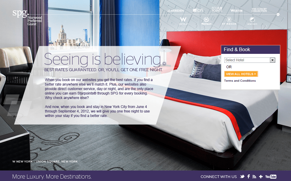 Free Night In Ny With Spg Brg Claims June 4 To Sep 3 2012
