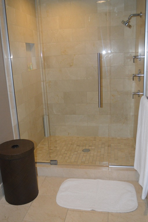 Good This room had only a shower stall with no tub and a separate toilet room with door