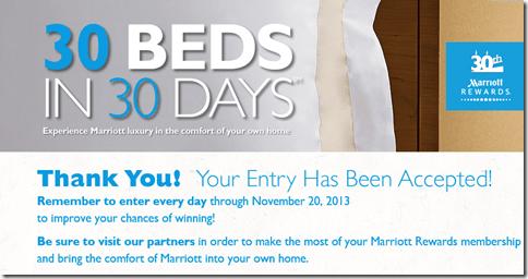 Marriott Bed thankyou