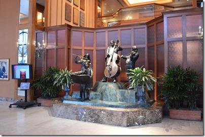 Hilton lobby sculpture