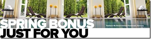 Club Carlson Spring Bonus