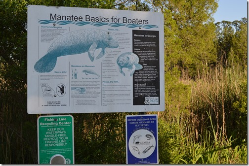 Manatee Basics sign