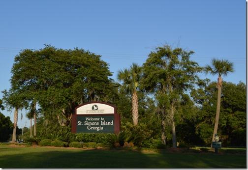 St. Simons sign