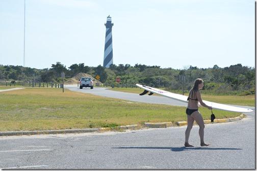 Cape hatteras light-surfer