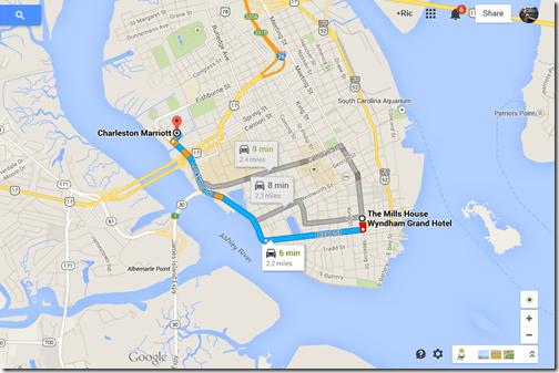 Google Maps Charleston Marriott