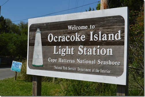 Ocraocke lighthouse sign