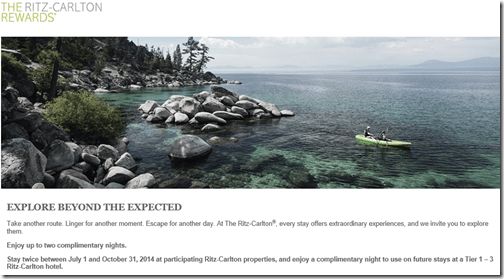Ritz-Carlton Rewards free night