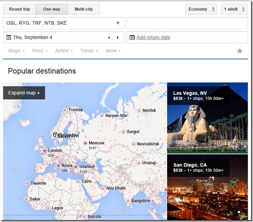 Google Flights OSL-2