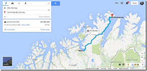google maps honningsvag