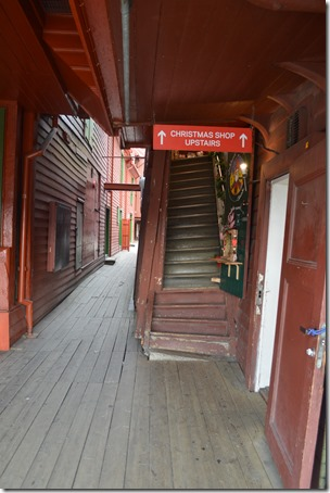 Bryggen crooked stairs